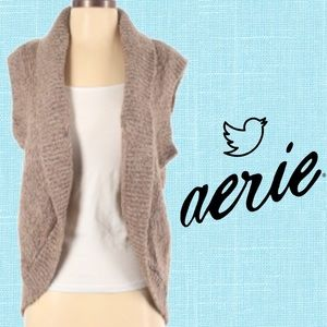 2for$30 AERIE Hi Low Chunky Knit Sweater Vest Cardigan